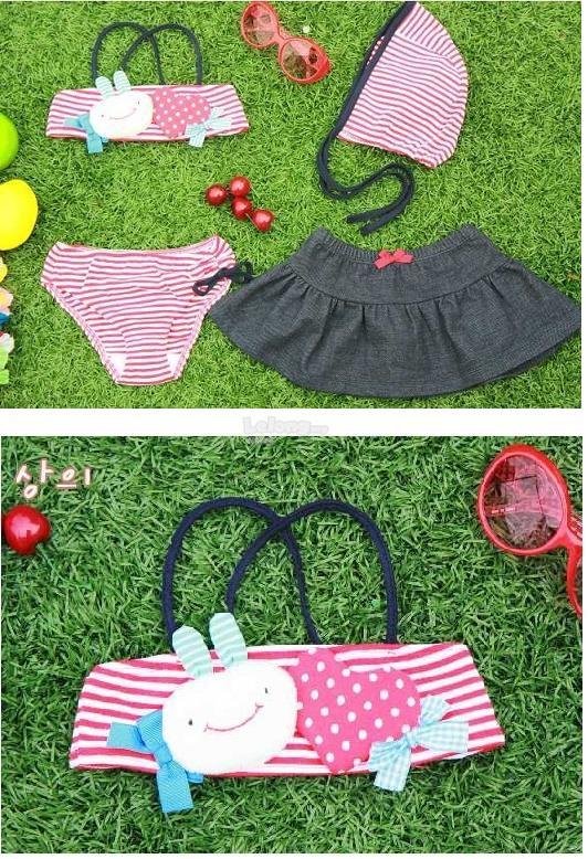 (SS13-130) New Omoroi Cute Girl-Girl Swimsuit - Set In 4
