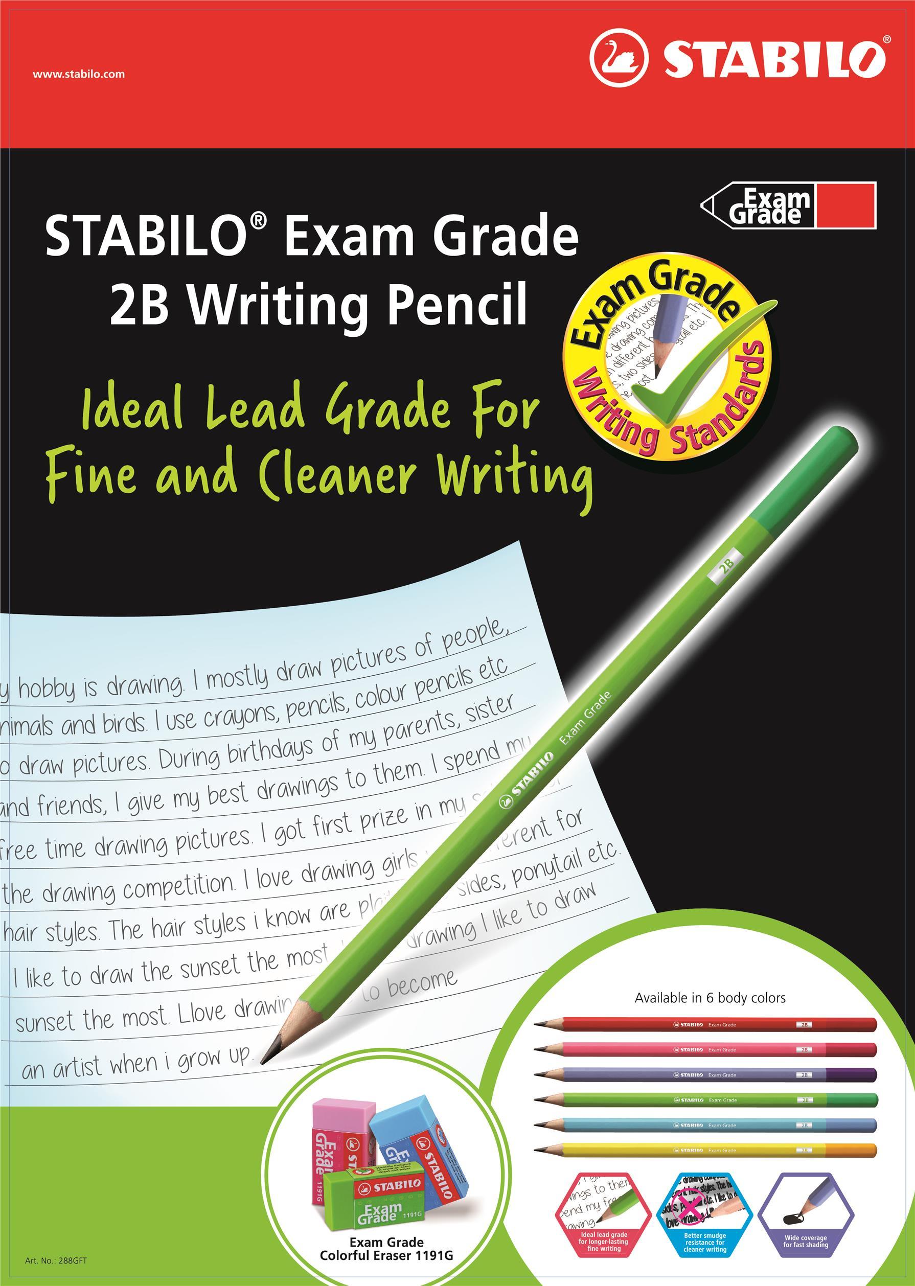 STABILO 288G Exam Grade Writing Pencil 2B (Box of 12pcs)