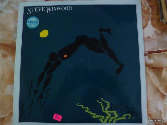 STEVE WINWOOD ARC OF A  DIVER  VINYL RECORD