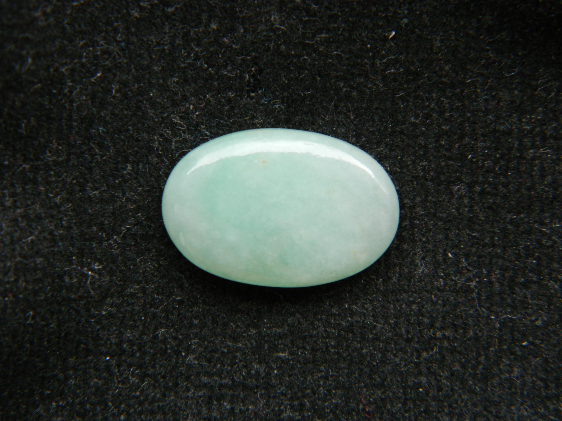 Superb class A jadeite jade light green cabochon - 8.35CT - BL46