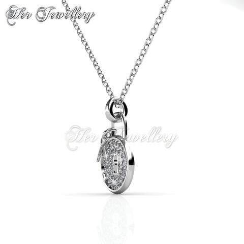 Swarovski crystals lock pendant end 4102019 1028 am swarovski crystals lock pendant 18k white gold plated aloadofball Choice Image