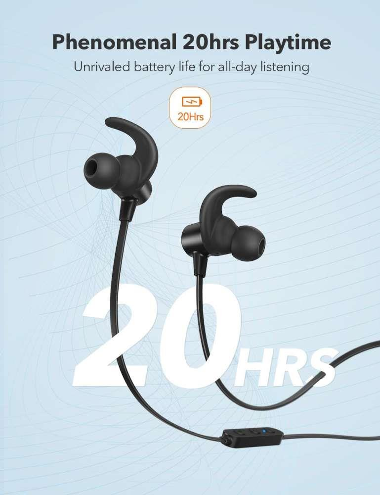 TaoTronics BH067 Pair 2 Devices Magnetic Wireless Sport Earphones