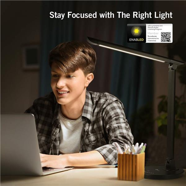 TaoTronics DL13 12W Touch Control 7 Level Dimmable LED Desk Lamp Table