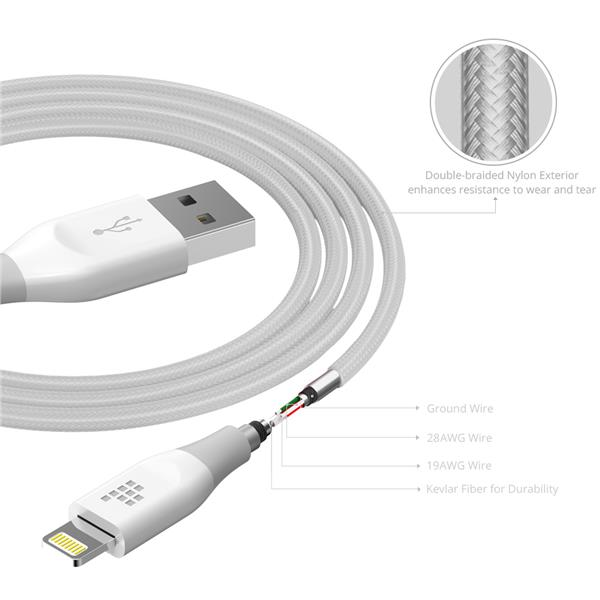 Tronsmart Apple MFi Certified Double Nylon Braided Lightning Cable