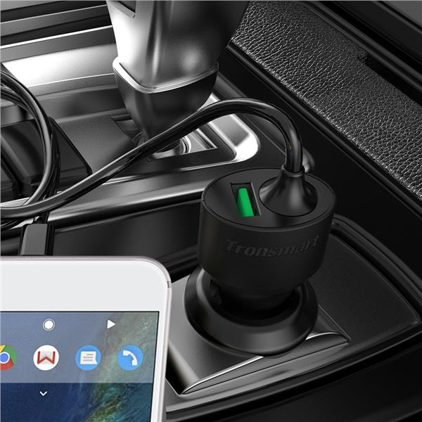 Tronsmart CCTA Quick Charge 3.0 Car Charger with build-in Type C cable