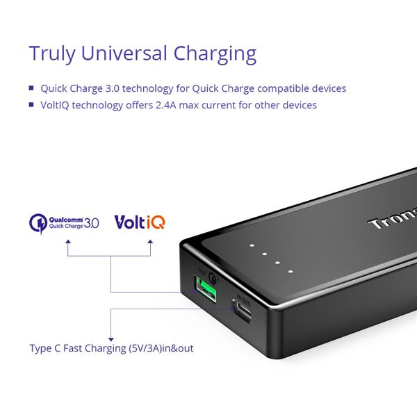Tronsmart Presto 10400mAh Quick Charge 3.0 and Type C Powerbank