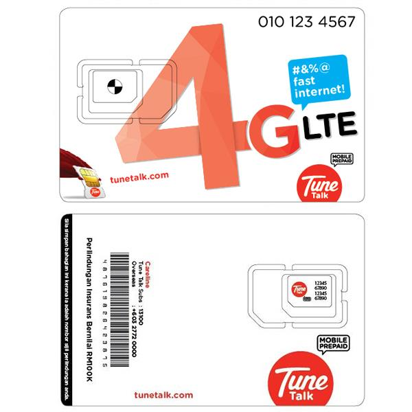 Tune Talk Prepaid SIM Card/VIP Mobile Number/RM45 credit+FREE 4GB data