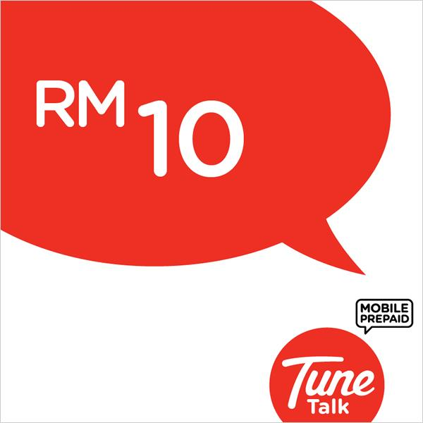 Tune Talk RM10 Prepaid Reload/Online Top Up