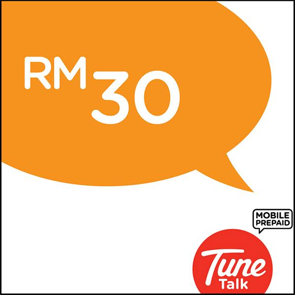 Tune Talk RM30 Prepaid Reload/Online Top Up/free 1GB data