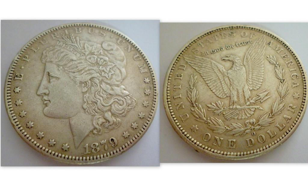 "U.S  SILVER MORGAN DOLLAR 1879 ""O"""
