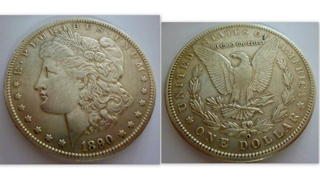 U.S  SILVER MORGAN DOLLAR 1890 'O'