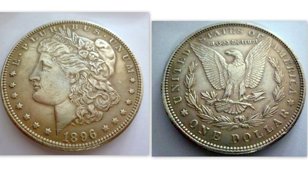 U.S  SILVER MORGAN DOLLAR 1896