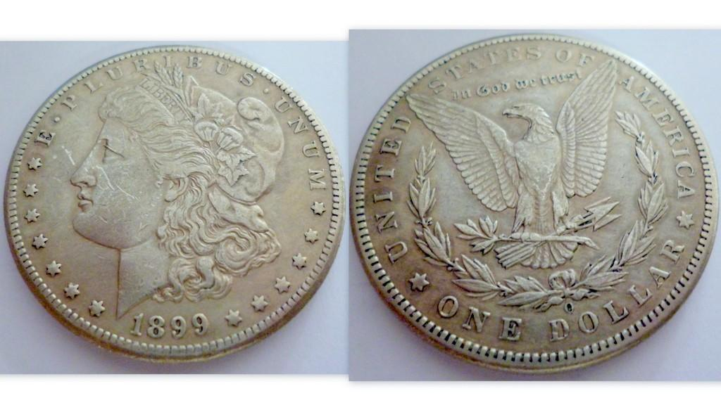 "U.S  SILVER MORGAN DOLLAR 1899 ""O"""