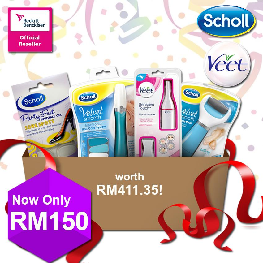 Veet & Scholl: Spa in a Box [worth RM 411.35]