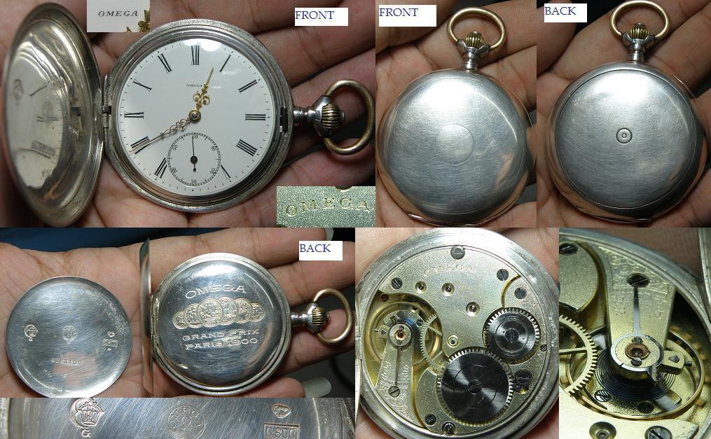 Vintage Omega Swiss made 0.800 silver hunter case pocket watch