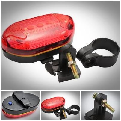 Waterproof LED Bike Bicycle Head Light Rear Flashlight 7 Pattern