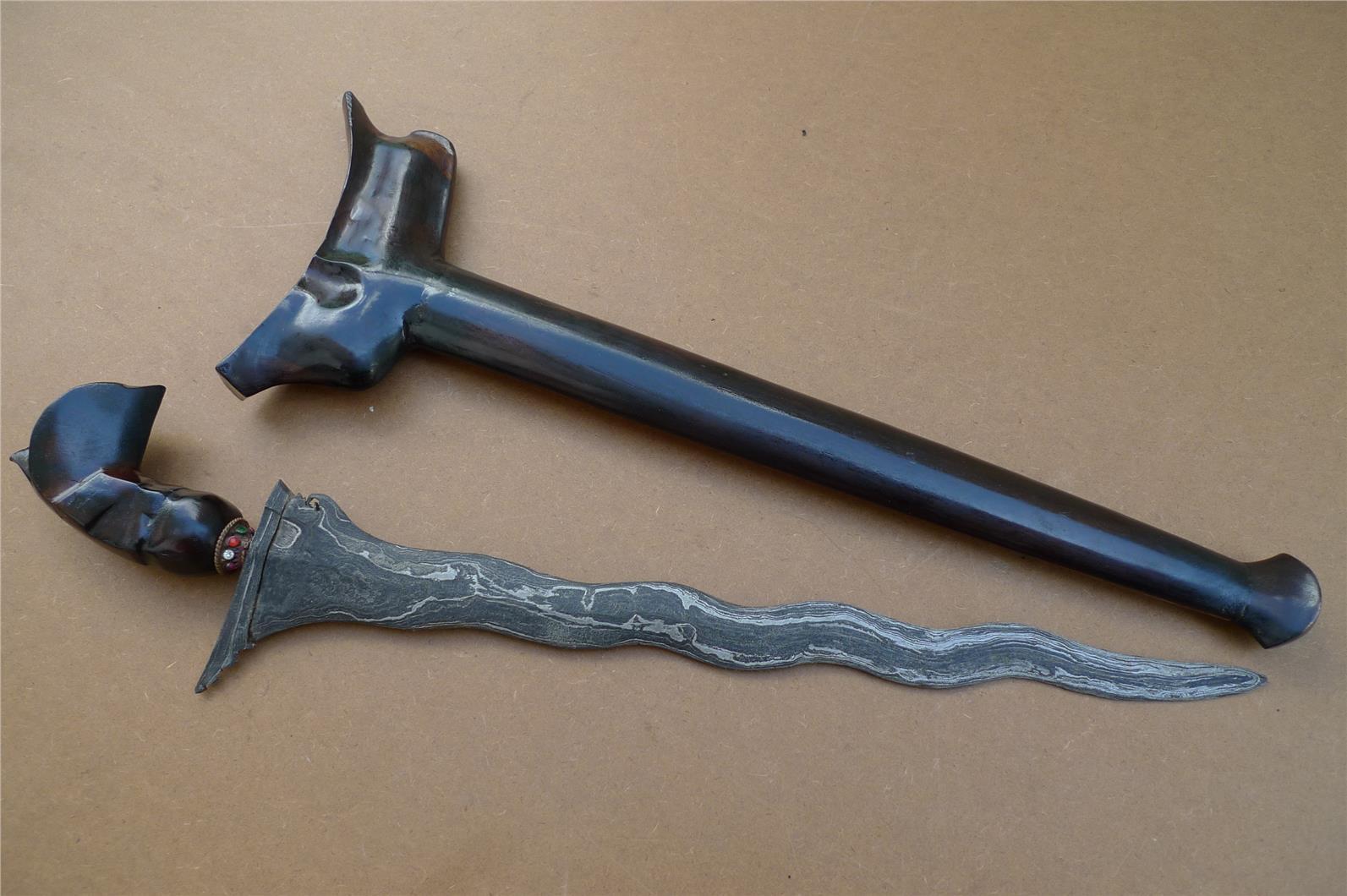 WE01873 WATERMELON SKIN 500mm EXCELLENT KERIS Kriss Weapon Knife Pisau