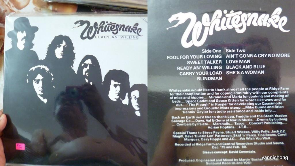 WHITESNAKE RECORD  VINYL READY AND  WILLING 1980