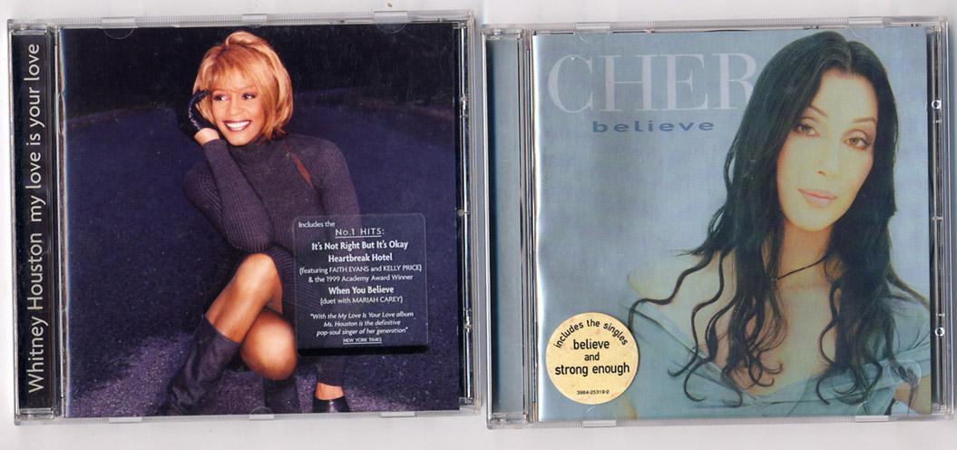 'Whitney Houston' & 'Cher' 2 CDs