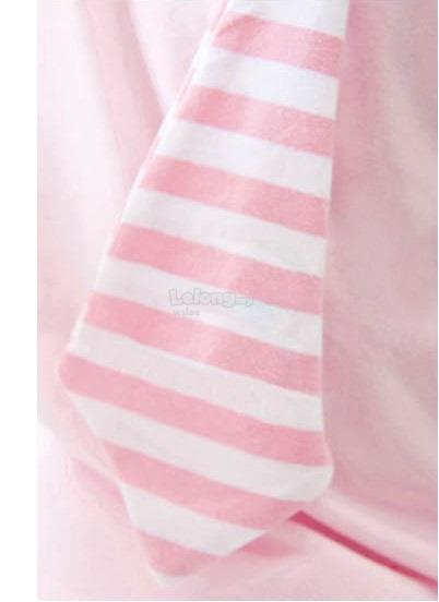 (WJ 0092) New Mini Bear Kids Polo Shirt - Pink
