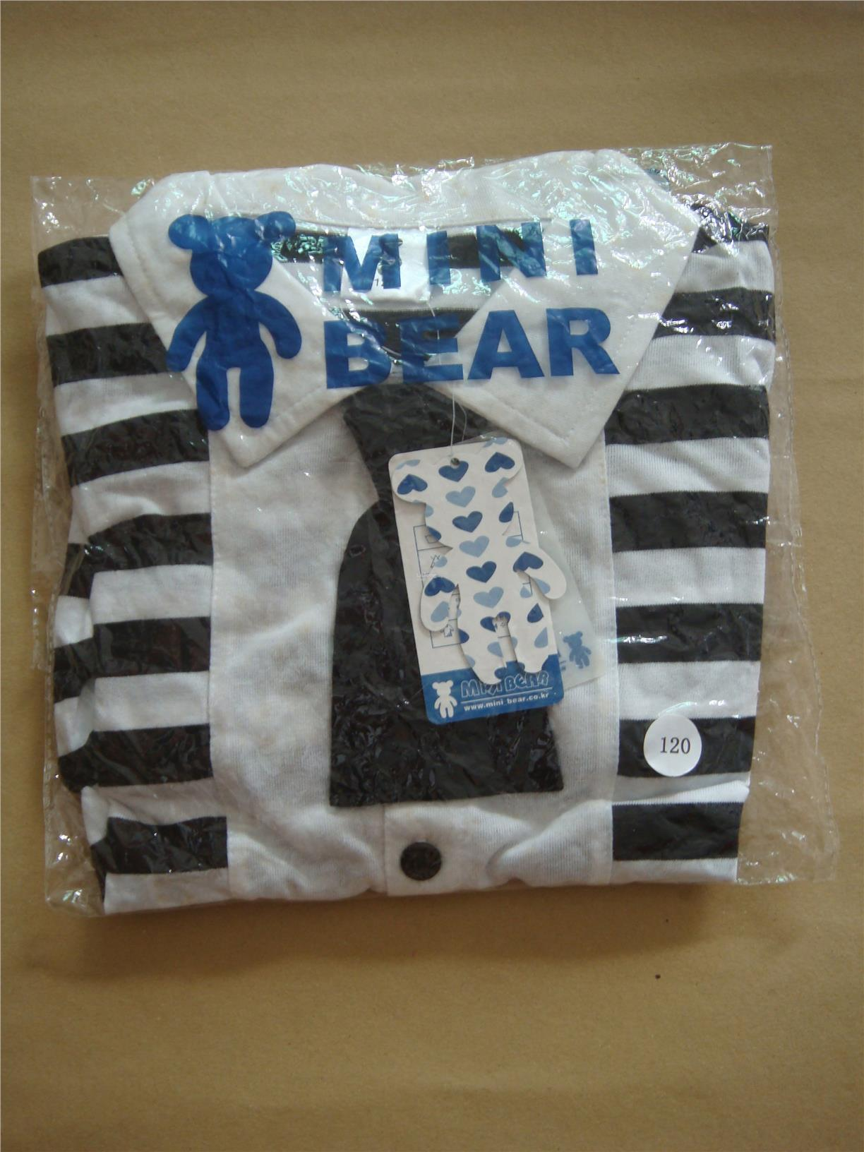 (WJ0090) New Mini Bear Kids Clothing Set, Sailor Style