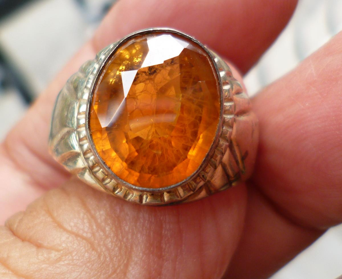 YELLOW  SAPPHIRE RING TWO