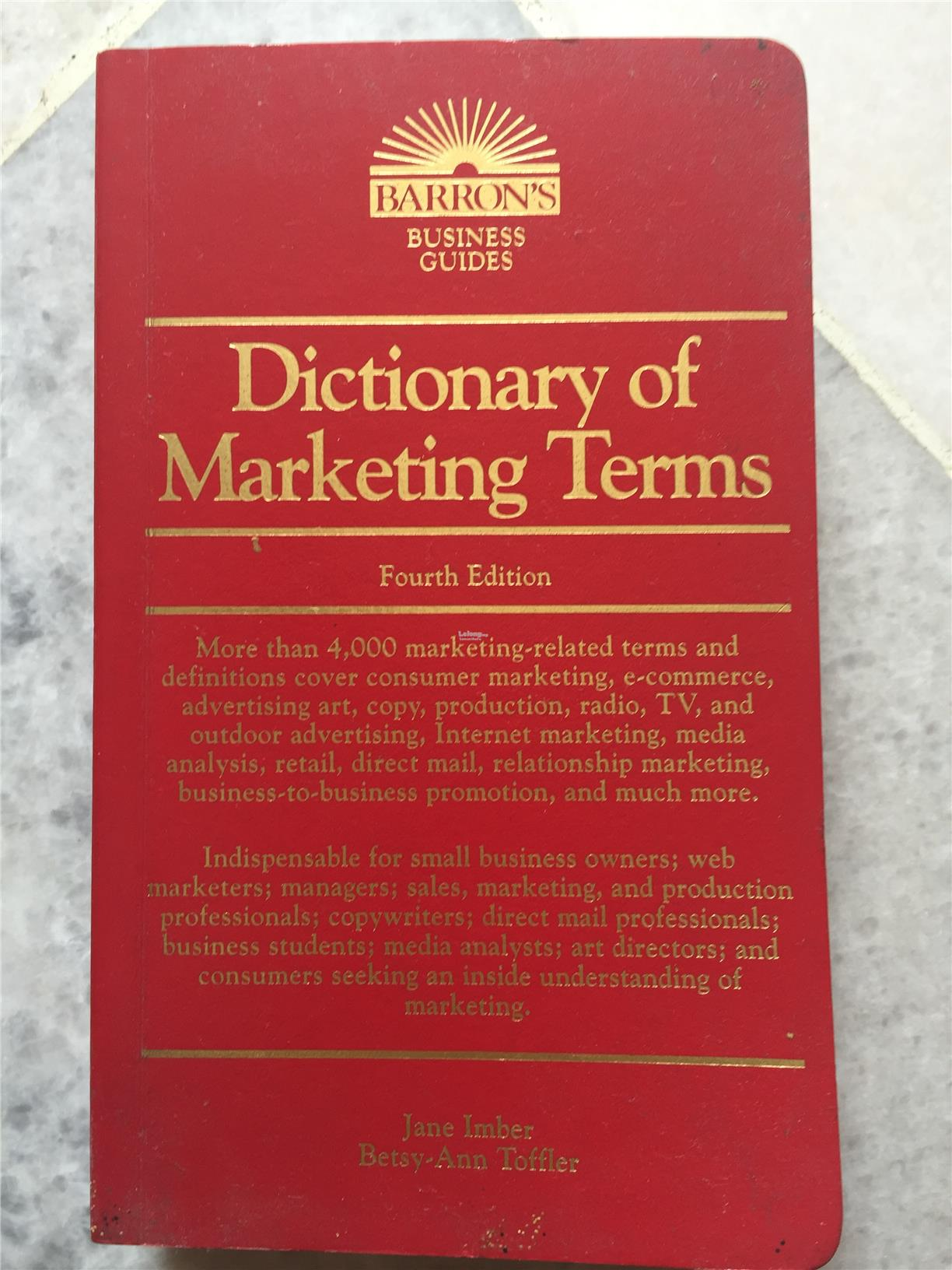 dictionary of marketing terms pdf