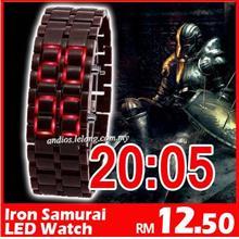 LW01-Iron Samurai Japan LED Watch Jam Import[Wholesale Harga Borong]