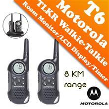 Twinpack Motorola Walkie Talkie TLKR T6 - 8KM (SIRIM License Free)