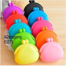 03573Korean cute purse sweet the Daren candy color silicone/admission ..