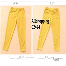 Korea Japan Pants Panties Trouser Pants & Shorts Leggings02424-yellow