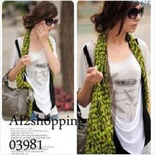 Korea ABC Shawl Stole Scarf03981-Green