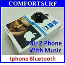 Supprot 2 Smartphone + Media Bluetooth Stereo Headset Iphone Samsung C