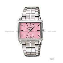 CASIO LTP-1334D-4A STANDARD Analog oblong rectangular SS bracelet pink