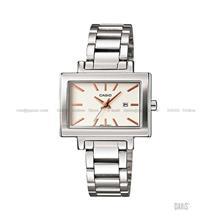 CASIO LTP-1332D-7A STANDARD Analog rectangular date SS bracelet white