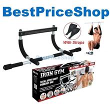 New Iron Gym - Upper Body Workout Chin Pull Up Bar with Workout Video