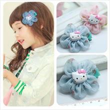 Hello Kitty Baby Girl Flower Hair Clip