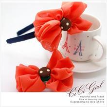 Big flower dot bow Kids hair bands