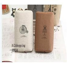 00034Korean lovely Paris portable multi-function Stationery/Pencil Bag
