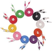 Colorful 1 meter Flat Micro USB Cable (Samsung/Blackberry/HTC)