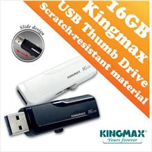 Kingmax PD-02 USB Drive (16GB) Slide Design - Black and White Color