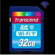 TRANSCEND 16GB/32GB WiFi Wireless SD Memory CARD DSLR free Card Reader