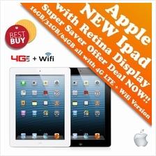 Apple New Ipad 16GB/32GB/64GB 4G LTE+ Wifi + Retina Display Super Deal