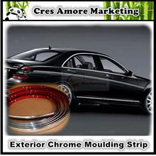 Car exterior ABS chrome DIY moulding strip