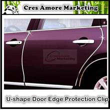 U-shape door edge decoration scratch protective clip