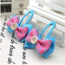 Blue/Pink Bow BB Hair Clips