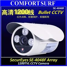SecurEyes 1/4 CMOS HD CCD 1200TVL CCTV Dome Color Camera 3pcs Array IR