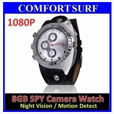 IR Night Vision 8GB 1080P Waterproof watch Camera DVR - Motion Detect