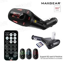 MAXGear In-car FM Transmitter Car MP3 Music Player Phone USB SD AUX