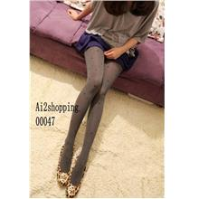 00047Korean elastic sweet heart was thin backing pantyhose Pant